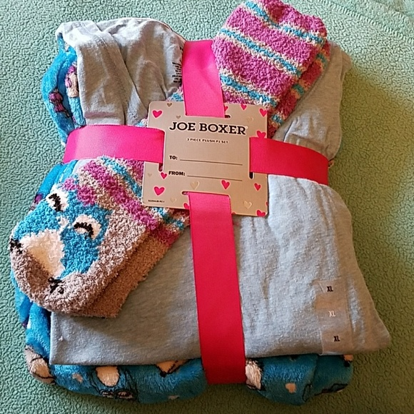 5a7e4e88c69 NWT 3 piece Owl pajama gift set with socks size XL